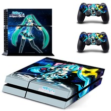 Anime Cute Girl Hatsune Miku PS4 Skin Sticker Decal Vinyl for Sony Playstation 4 Console and 2 Controllers PS4 Skin Sticker