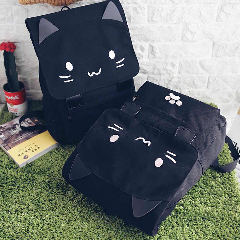 Япония 3D кошка женский рюкзак мягкий милый мультфильм дорожная сумка для девочки-подростка женский рюкзак, Mochila Рюкзак Пакет дизайн