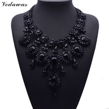 2017 Hot XG137 New Vintage Black Branch Necklaces & Pendants Black Crystal  Statement Collar Choker Necklace Jewelry Accessorie