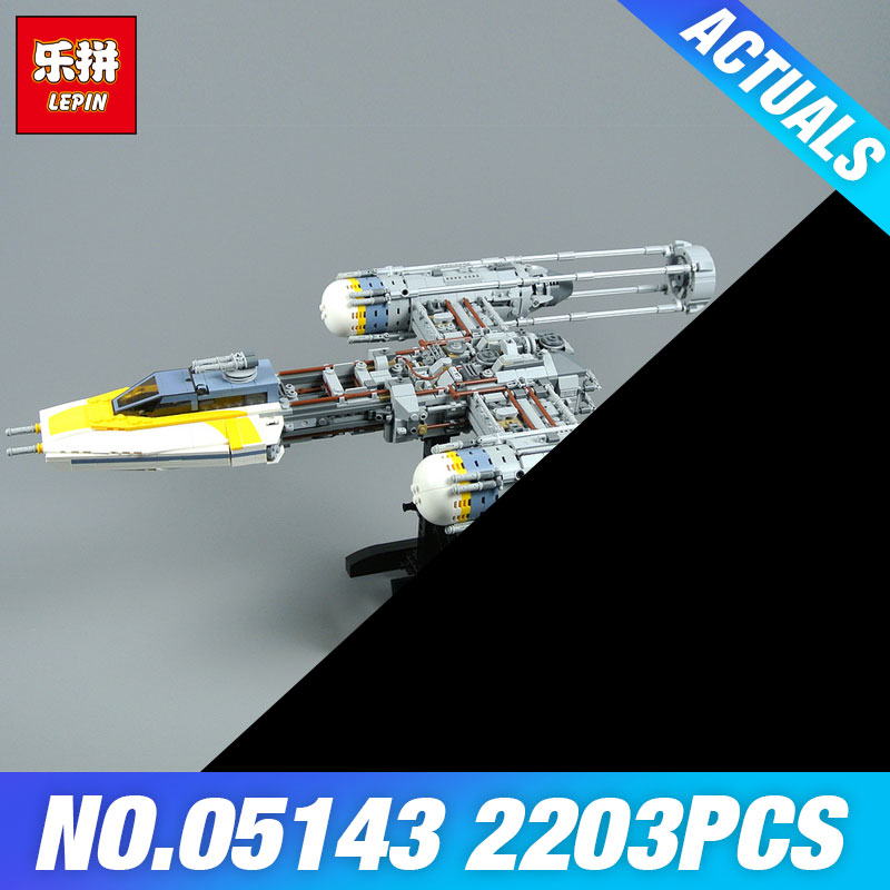 Lepin 05143 2203Pcs Star Series Wars The 75181 New Y-wing Starfighter Set Model Building Blocks Bricks DIY Toys Kids As Gifts