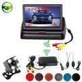 2.4 GHz Wireless Car Video Camera Monitor Parking Assistance Radar. Car Monitors+Wireless kit+Rearview Camera+parking Sensor
