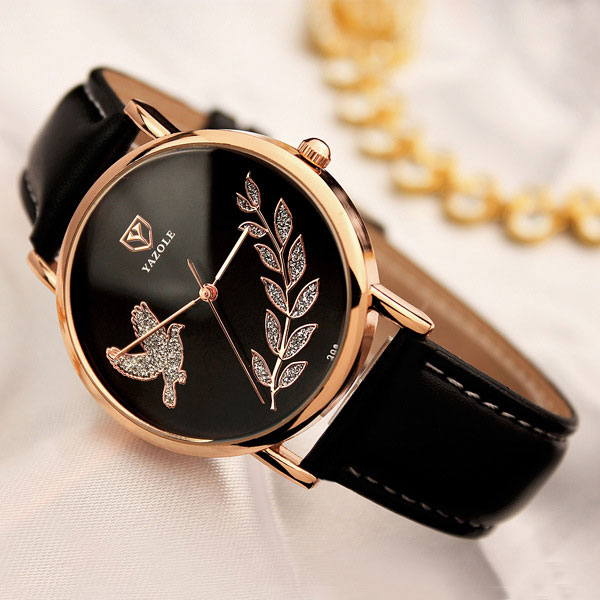 YAZOLE Simple Quartz Watch Women Watches Ladies Brand Rose Gold Wristwatch For Female Wrist Clock Montre Femme Relogio Feminino
