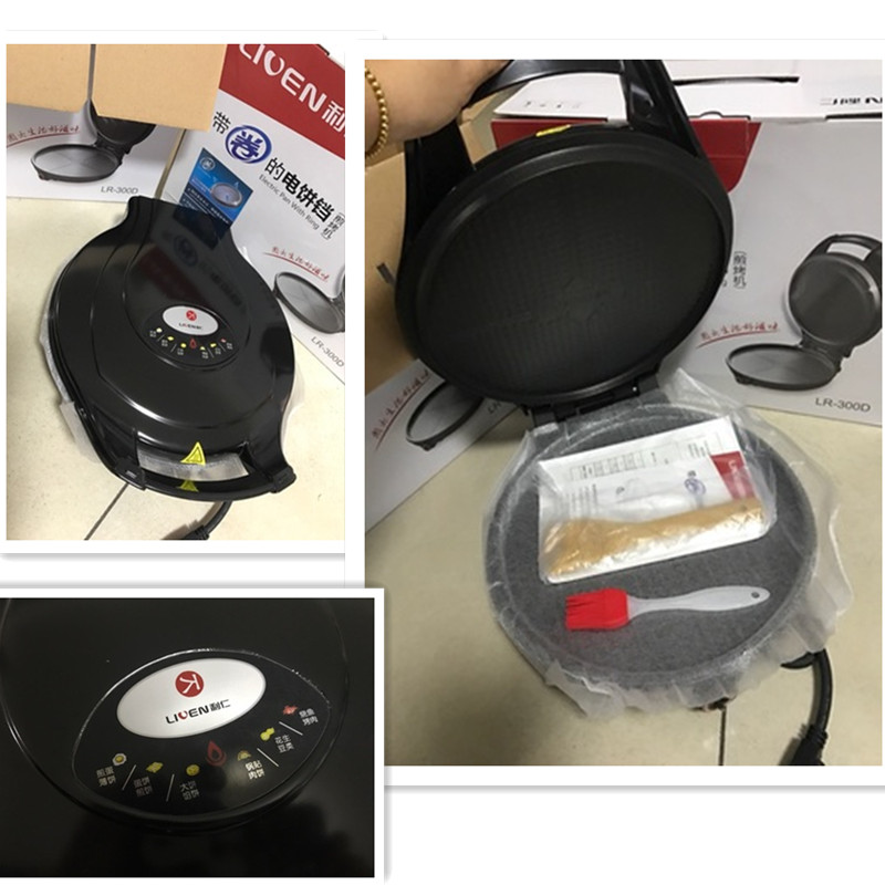 110V Multifunctional Electric Crepe Maker Non-stick Pancake Baking Pan Household Electric Baking Plate US Plug Easy To Clean