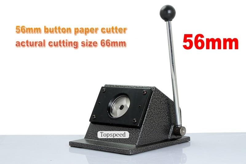 Tatsächlichen Schneiden Größe 66mm Kenntnisreich Kreis Cutter Runde Form Papier Schneiden Maschine Für 56mm Durchmesser Abzeichen Der