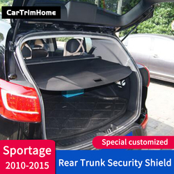 2010-2015 Sportage baule posteriore cargo copertura accessori Per Kia Sportage Posteriore Pacchetto Scaffale trunk Cargo Copertura car styling trim