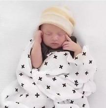 110 100cm Muslin swaddle blankets baby blanket 8 designs to choose