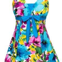 Женская одежда для плавания, купальный костюм, купальник с пуш-ап, Цельный купальник, Голубое озеро