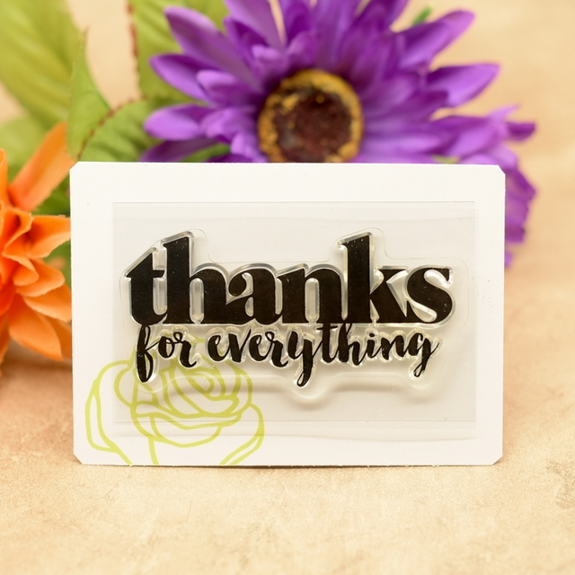 thanks for everything Scrapbook DIY photo cards account rubber stamp clear stamp transparent stamp 4.5x7.5cm KW680612