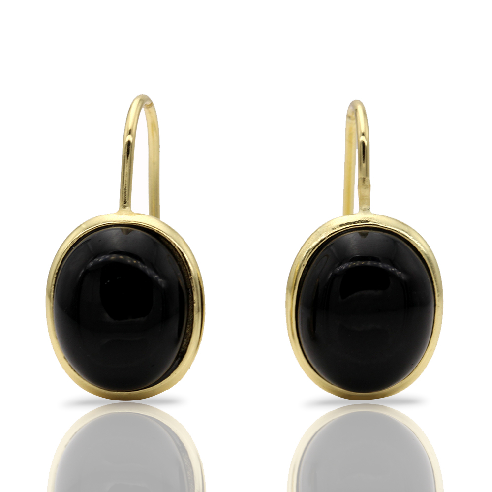 Best Hot Sale Plated Rose Gold Round Black Stone Silver Long Vintage Statement Earrings For Women Gift E032 Bohemian yoursfs dangle earrings with long chain austria crystal jewelry gift 18k rose gold plated