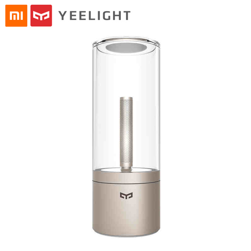 original xiaomi mijia yeelight ambiance lamp vintage smart candela led light dimmable bedside night light for xiaomi mi home app Original Xiaomi Yeelight Candela Led Night Light MIJIA Smart Electric Candle Bougie Led Ambient Lamp Mi Home App Remote Control