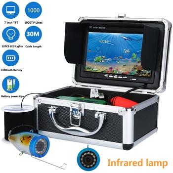 MAOTEWANG 7 #8222 Cal TFT HD 1000tvl podwodne wędkowanie wideo zestaw do nagrywania wideo 12 sztuk LED lampa podczerwień światła lokalizator ryb 10M 20M 30M tanie i dobre opinie CN (pochodzenie) Nr 7 baterii english Kabel 200 Khz 0 6-30 metr Dc 10-18 v 7 TFT LCD color monitor 1000TVL Aluminum alloy