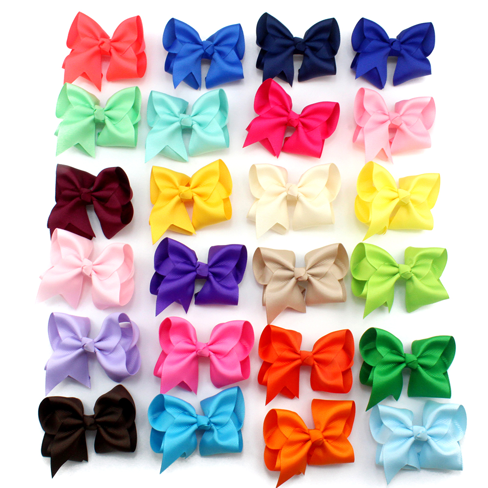 Adogirl Wholesale Hair Accessories 3 inch Big Ribbon with Clips School Hair Bows Women Hair Clip Girls Hair Barrettes
