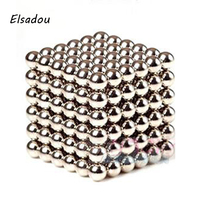 Elsadou 5mm 216pcs Magnetic Cube Balls Magic Puzzle Toys Relieve Anxiety Autism ADHD For Child Magic