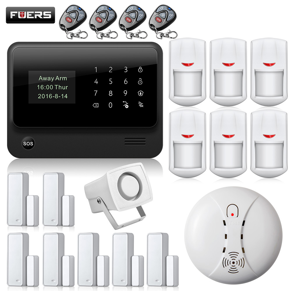 Wifi Alarm System 2.4G WiFi GSM Touch Keypad Wireless GSM Autodial DIY Alarm Security System Burglar Home Security Alarm System цена