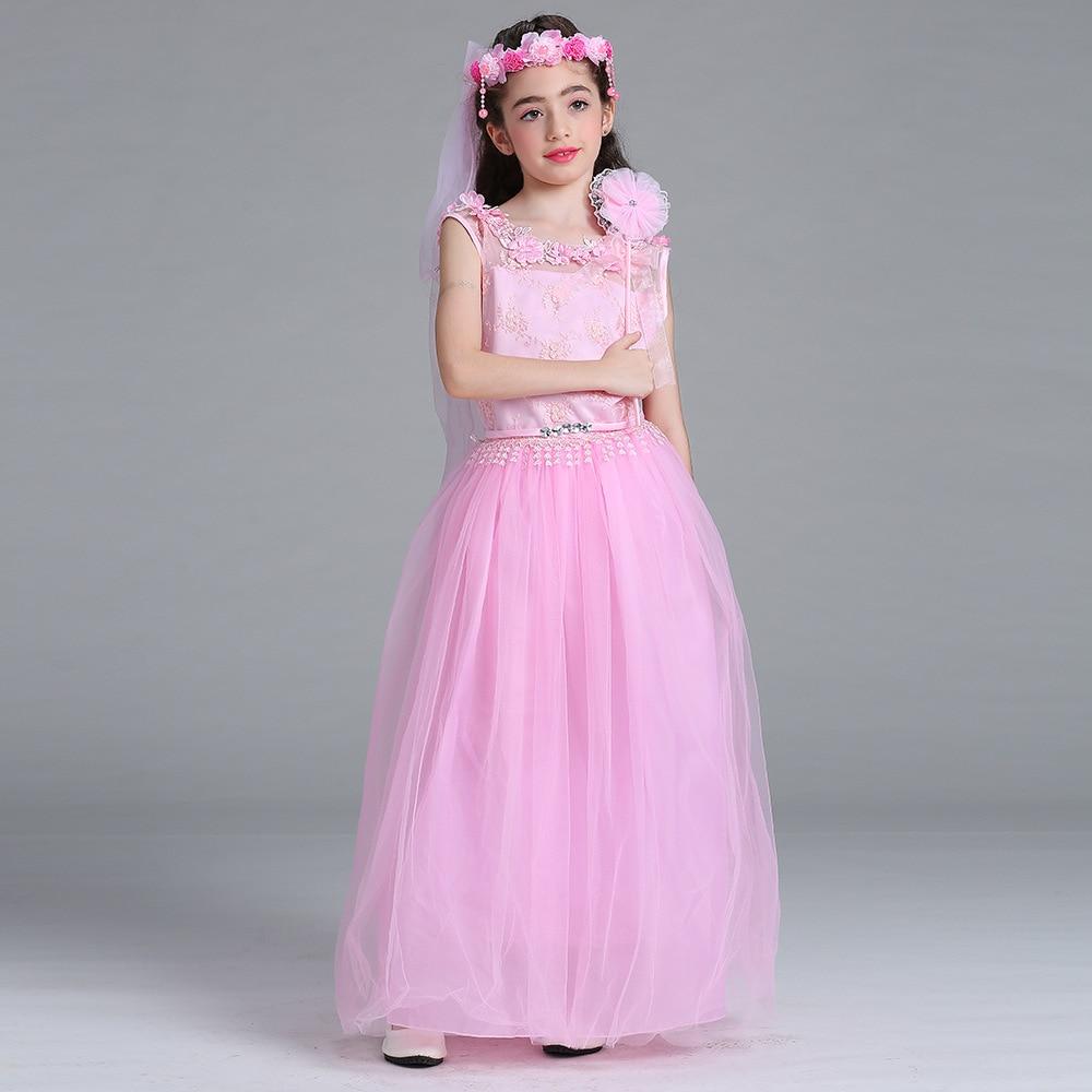 Goede kwaliteit mooie bloem meisjes jurken lange baby meisjes - Kinderkleding - Foto 5