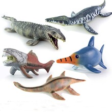 1PC Jurassic Big Mosasaurus Dinosaur toy Soft PVC Action Figures Hand Painted Animal Model Collection Dinosaur Toys For Children large size classic dinosaur toy triceratops soft animal model collection for boys action