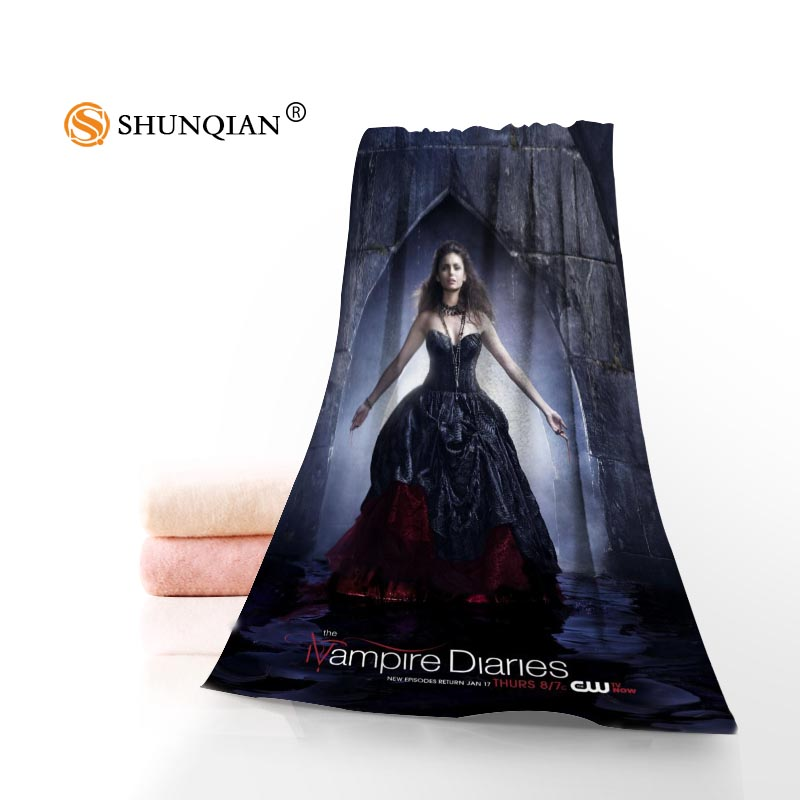 Custom The Vampire Diaries Towel Printed Cotton Face/Bath Towels Microfiber Fabric 35X75cm,70X140cm Shower Towels