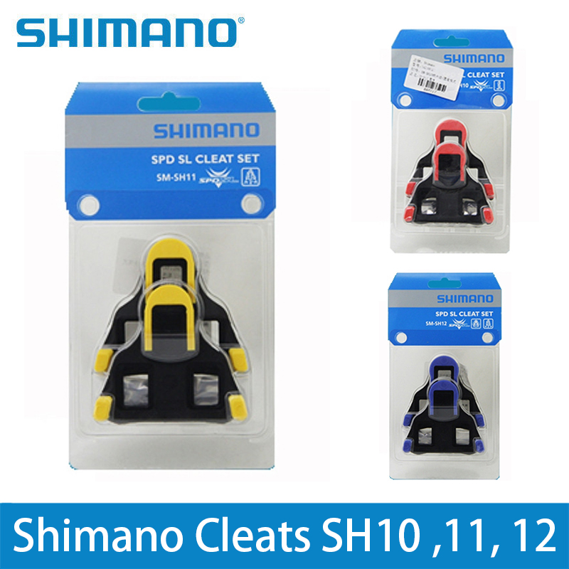 Shimano SM-SH12 SPD SL Road Racing Bike Pedals Cleat Set 2° Blue