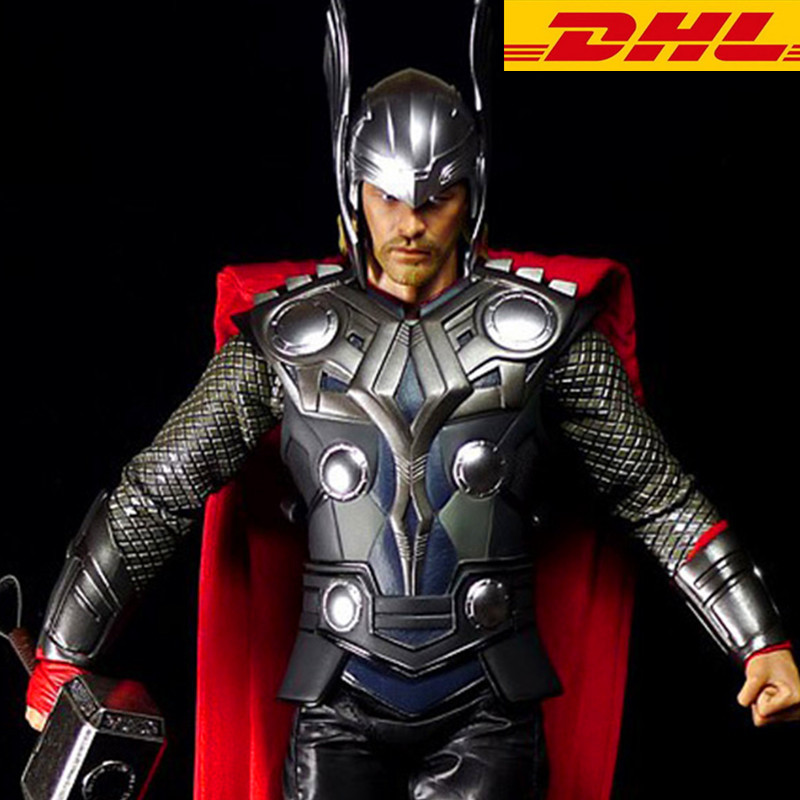 Avengers 1:1(LIFE SIZE)  Adult Halloween Party Resin Full Face Thor Mask Helmet Crafts Cosplay Collectible Model Toy T125 plastic standing human skeleton life size for horror hunted house halloween decoration