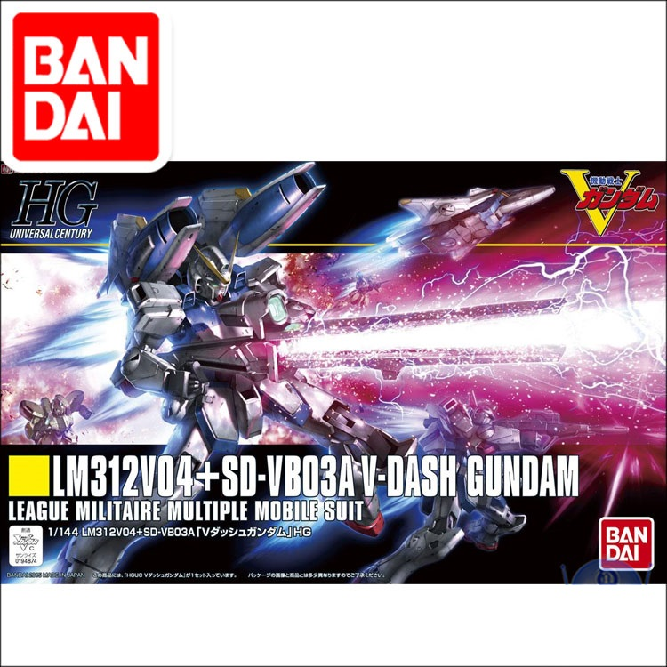 Original Japaness Gundam HG 1/144 Model LM312V04+SD Victory V-DASH GUNDAM Mobile Suit Kids Toys