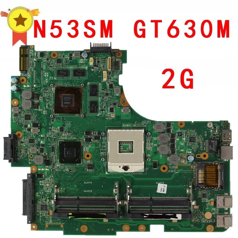 все цены на  Original N53SV Motherboard For ASUS N53S N53SN N53SM With 4 RAM SLOT GT630M 2GB Fully test  онлайн