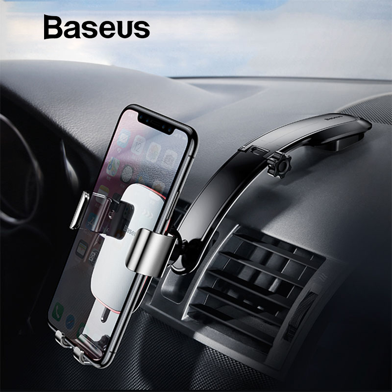 Baseus Metal Car Phone Mount Holder For iPhone Samsung Foldable Gravity Mobile Phone Holder for Dashboard Paste Car Holder StandBaseus Metal Car Phone Mount Holder For iPhone Samsung Foldable Gravity Mobile Phone Holder for Dashboard Paste Car Holder Stand