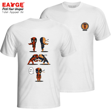 Deadpool And Deathstroke T Shirt Superhero Rock Print Funny T-shirt Anime Pop Design Unisex Men Women Cotton White Tee