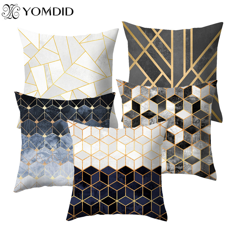 Sofa Throw pillowcase Geometric Cushion Cover Pillowcase Home Chair Seat Decor fall pillow covers cojines decorativos para sofa