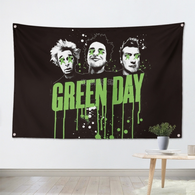 greenday heavy metal music rock band banners hanging flag wall