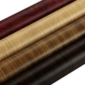 Image 2 - Pegatinas texturizadas para decoración de Interior de coche, de madera de PVC, 30x100CM, accesorios de película de vinilo para muebles, puertas y automóviles, impermeables