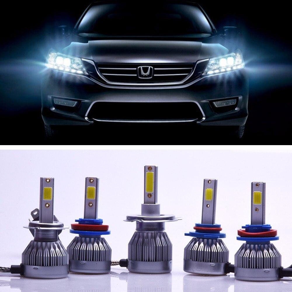 2X C1F6 Super Luminoso Del Faro LED 36 Watt 3600LM Anteriore Auto Lampadina Autos 6500 H4 H8 H11 H1 H7 9006 9005 LA Lampadina