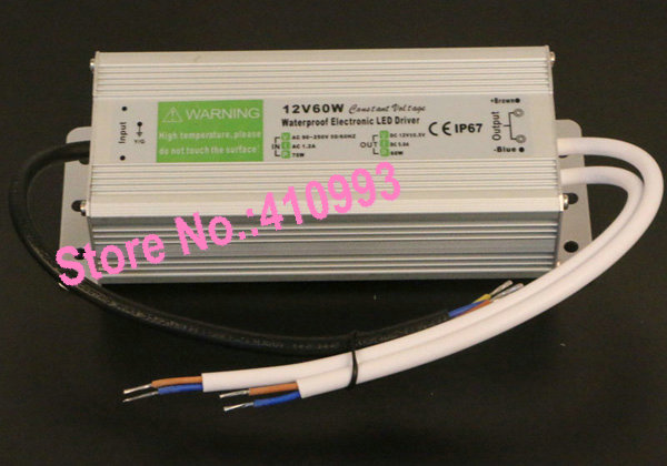 DC12V Swimming Pool Led Lamp Transformer 60W Waterproof Ip67