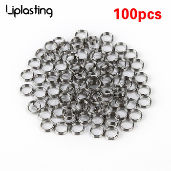 100Pcs/lot Professional Silver Dart Shaft Stainless Steel Rings for Nylon Darts Shafts Dart Accessories Hunting Dardos image