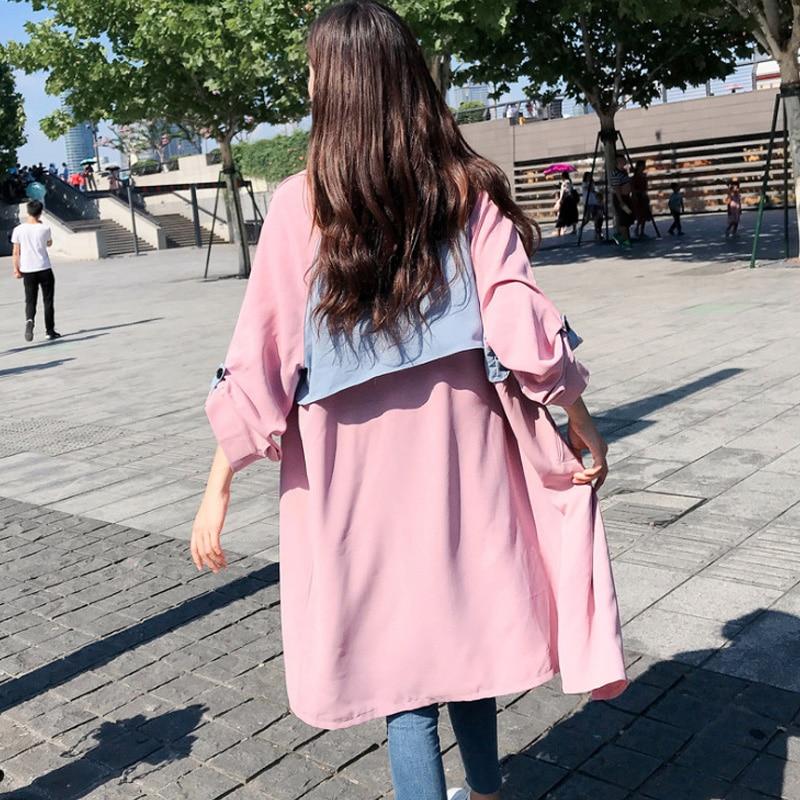 Vento Del Lunghe Cappotto Di Streetwear Le Donne Primavera Gotico Ragazze Trench In Lunga Impermeabili Modo A E Cotone Per Giacca Maniche Chic 2019 pExqy8wTP