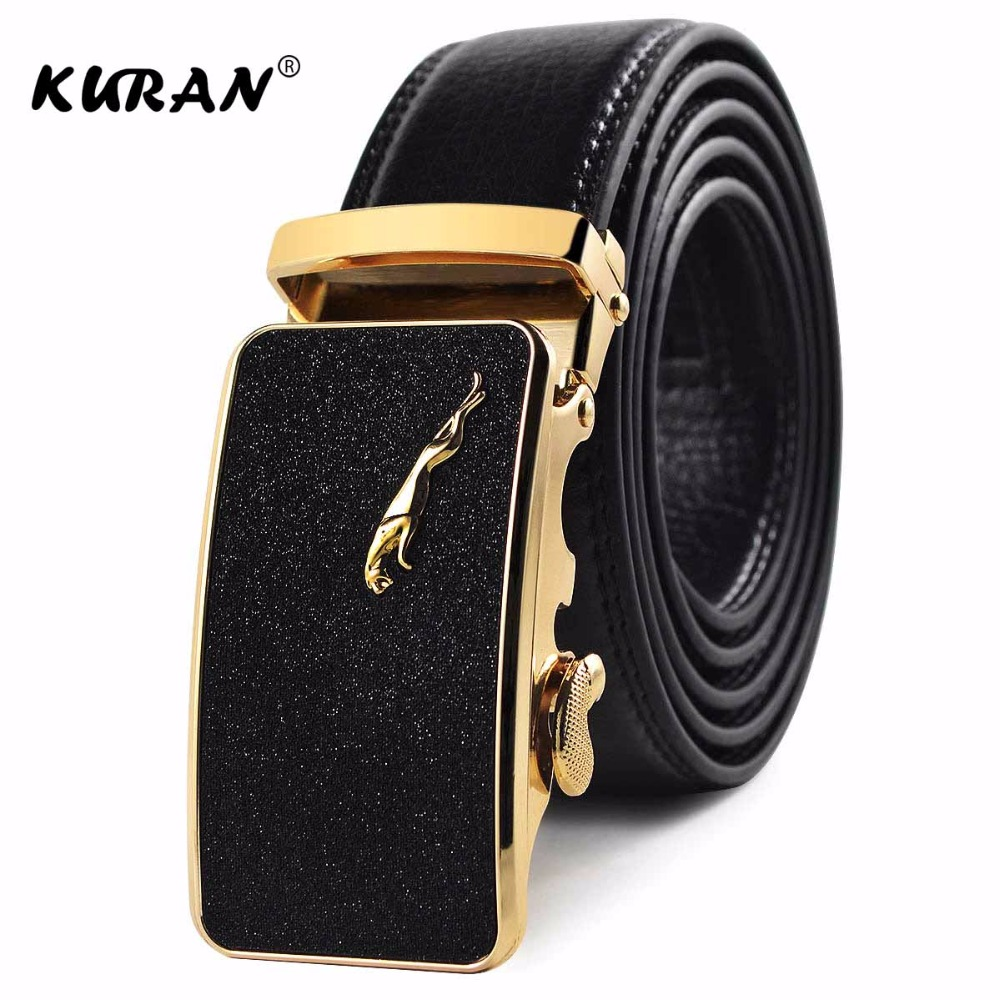 [KURAN] New Designer Leather Strap Male   Belt   Automatic Buckle   Belts   For Men Girdle Wide Men   Belt   Waistband ceinture cinto mascul