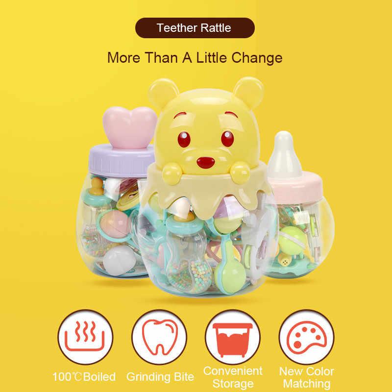 Juguetes de bebé 9 piezas 0-12 meses sonajeros móviles oyuncak sonajero cama niños juguete educativo recién nacidos regalo Beanbag para las niñas