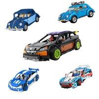 Building Blocks Technic Car 20053 21003 20077 21014 20053B Off road Compatible 10187 10566 Brick Lepin technic Volkswagen Beetle