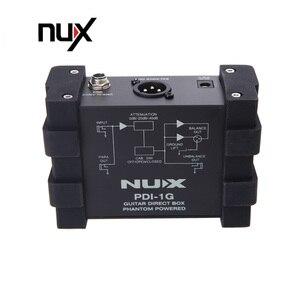 Image 2 - NUX PDI 1G Guitar Direct Injection Phantom Power Box Audio Mixer Para Out Compact Design Metal Housing