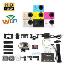 Bike Bicycle Computer Camera New Full HD 1080P WIFI H16R Action Sports Camera Camcorder Waterproof+Remote (EU PLUG) A2