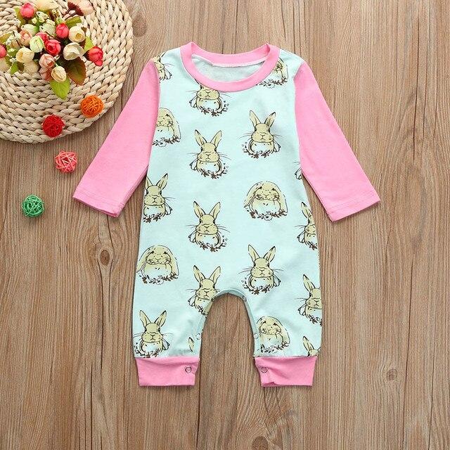 aba5dc4be ISHOWTIENDA 2018 baby girl Boy Easter clothes soft Cartoon Rabbit ...
