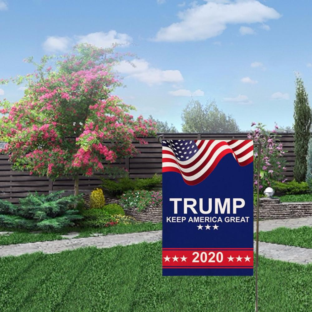 Yard Lawn Trump 2020 Flag Make America Great Garden Ornaments Election Flags