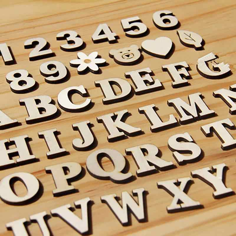 Wooden Letters English Alphabet Word Personalised Name