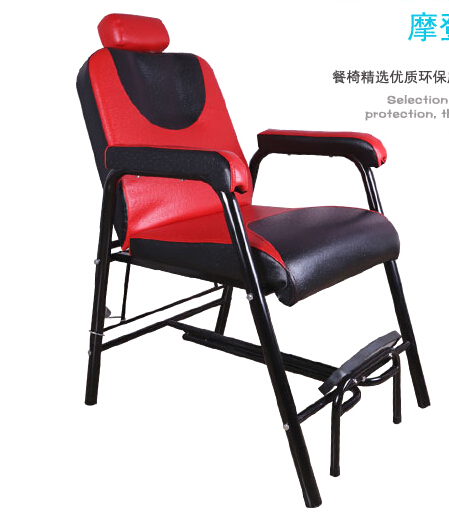 The New Barber Chair. Hairdressing Chair.. Chair Can Be Put Down