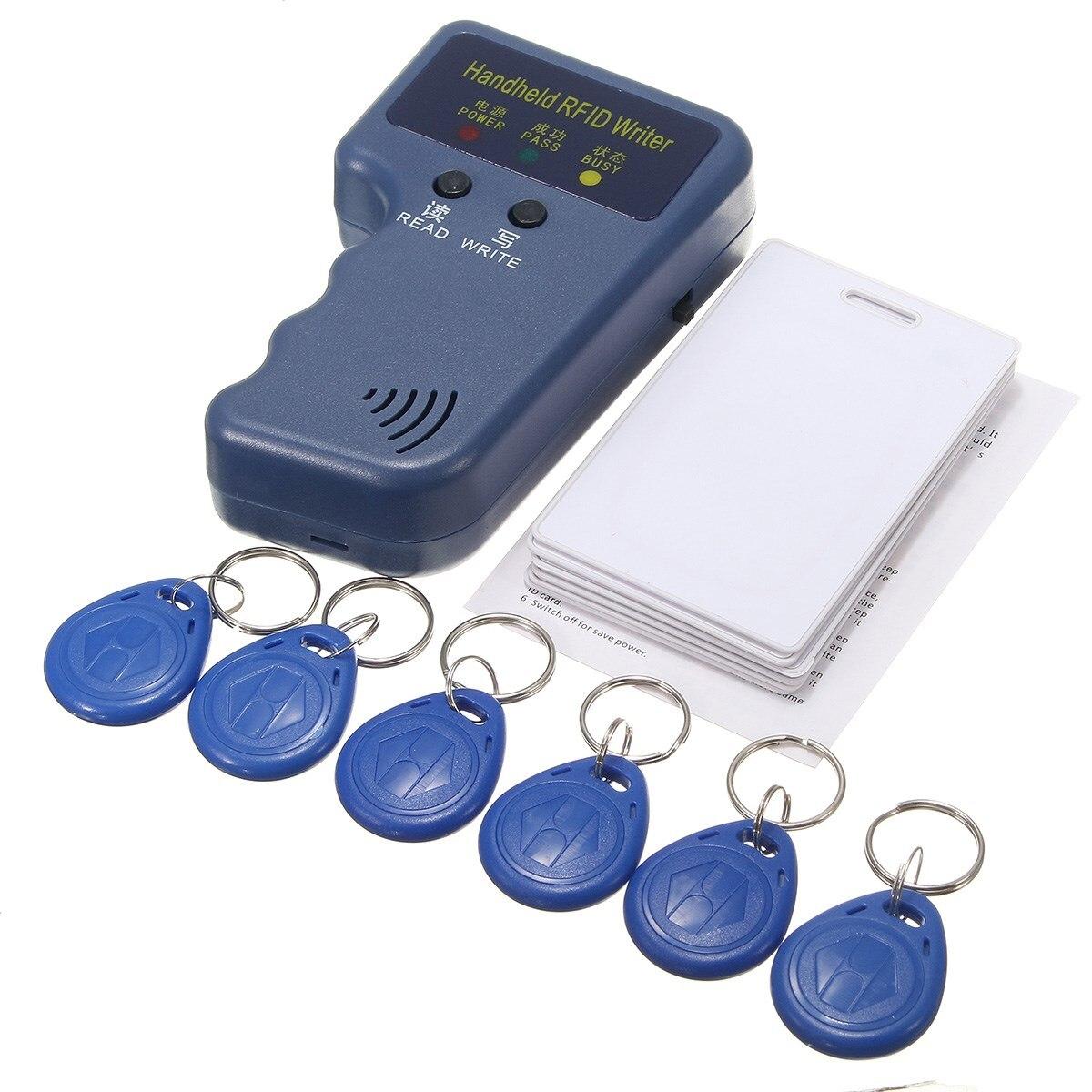 13 stücke 125 khz Handheld RFID ID Karte Kopierer/Reader/Writer Duplizierer Programmer6 Pcs Beschreibbare Tags + 6 stücke Karten