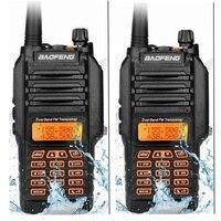2 개 보풍 UV-9R 무전기 400-520 백만헤르쯔 VHF: 136-174 백만헤르쯔 VHF UHF 강력한 8