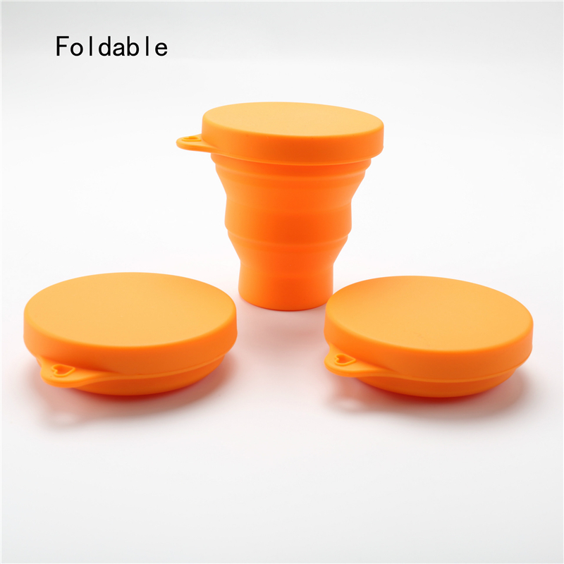 4YANG Portable Mini Travel Silicone Drinking Water Bottles Retractable Folding Leakproof Outdoor Sport Camping Water Bottle