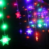 216pcs 5m 96pcs 3m Led Curtain Snowflake String Lights Led Fairy Lights Christmas Lights Wedding Party