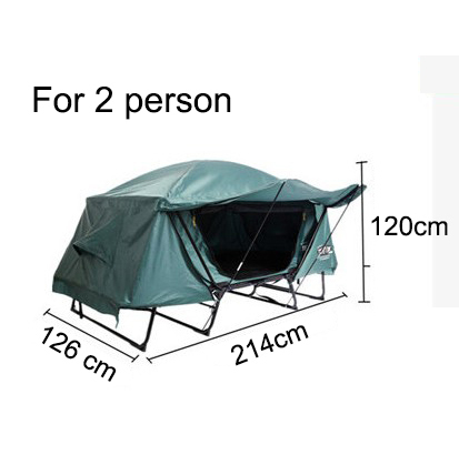 Outdoor camping tent portable multi-purpose fishing tent double layer moisture-proof waterproof tent for 1-2 person