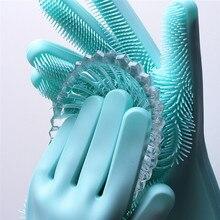 1 шт. перчатки для мытья посуды, силиконовые перчатки для чистки посуды с чистящей щеткой, кухонные перчатки для мытья посуды