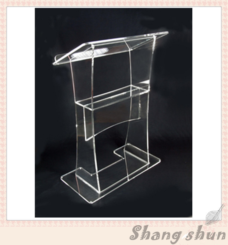 Acrylic lectern stands,perspex lectern,plexiglass lectern High quality clear acrylic lectern modeling mixed species forest stands